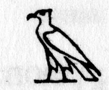 Hieroglyph tagged as: bird,eagle,falcon,hawk