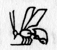 hieroglyph tagged as: insect, wasp